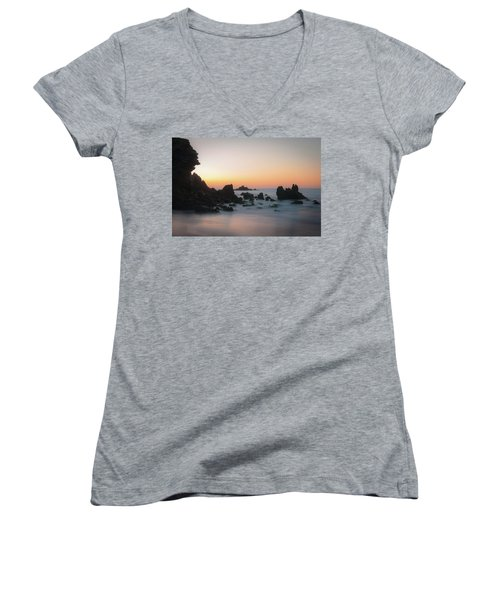 Rocky Sunrise Women's V-Neck T-Shirt