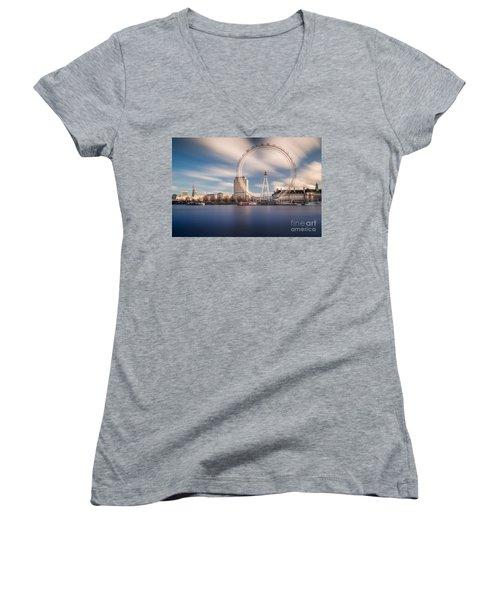 Rolling Women's V-Neck T-Shirt (Junior Cut) by Giuseppe Torre