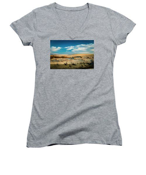 Rolling Sand Dunes Women's V-Neck (Athletic Fit)