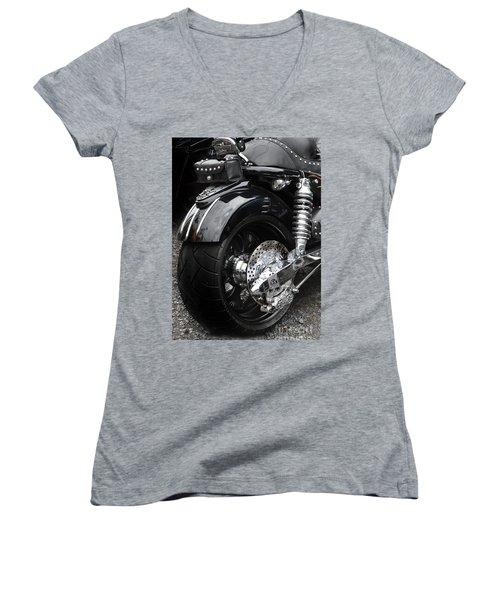 Rolling Thunder Women's V-Neck T-Shirt (Junior Cut) by Diane E Berry