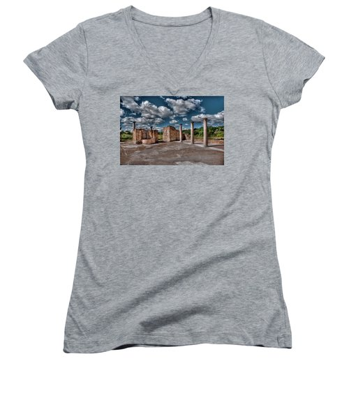 Roman Village  Women's V-Neck (Athletic Fit)