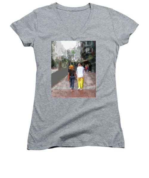 Romantic Couple Women's V-Neck
