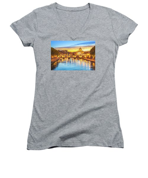 Rome At Twilight Women's V-Neck