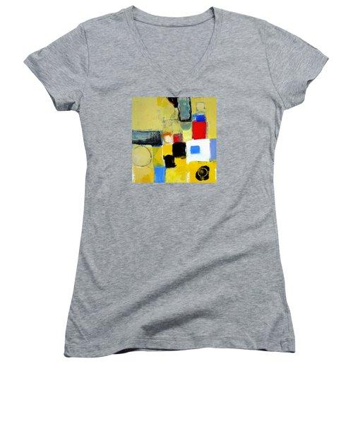 Ron The Rep Women's V-Neck T-Shirt (Junior Cut) by Cliff Spohn