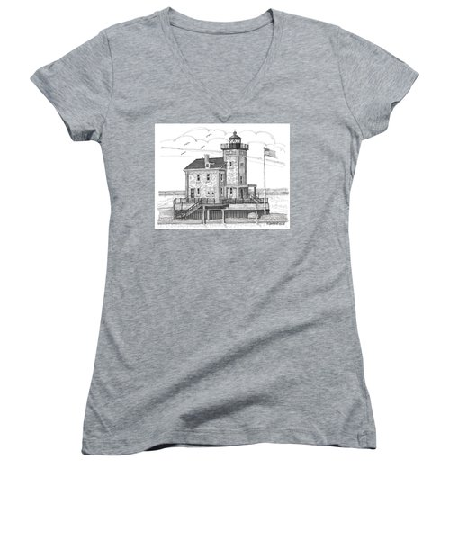 Rondout Lighthouse Women's V-Neck