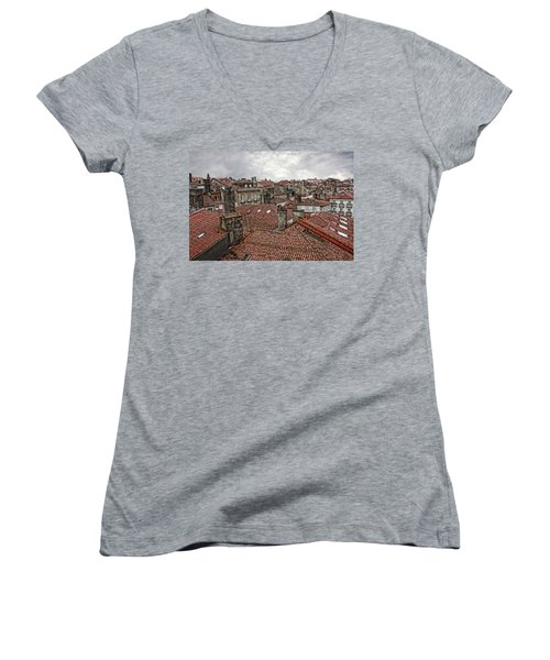 Roofs Over Santiago Women's V-Neck T-Shirt