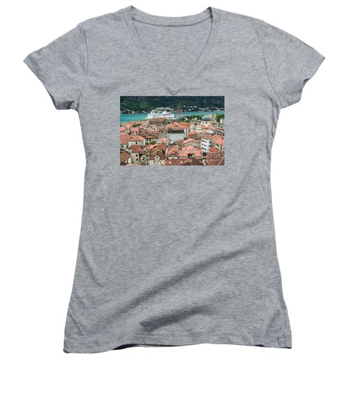 Rooftops Of Kotor  Women's V-Neck