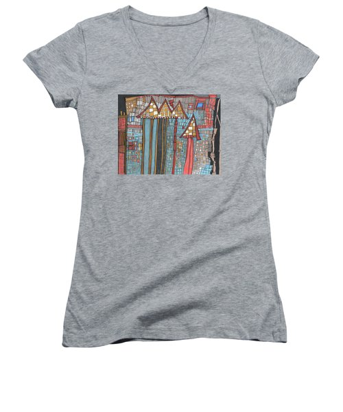 Dilapidated World Women's V-Neck T-Shirt (Junior Cut) by Sandra Church