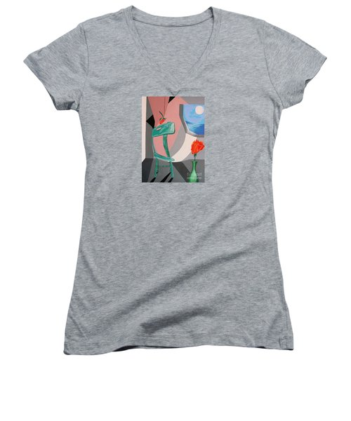 Room With A View #1 Women's V-Neck (Athletic Fit)