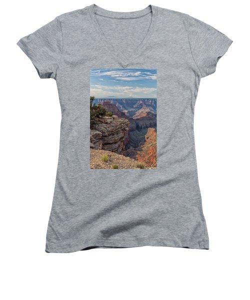 Canyon Below Women's V-Neck T-Shirt