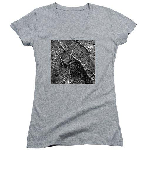 Roots Women's V-Neck T-Shirt (Junior Cut) by A K Dayton