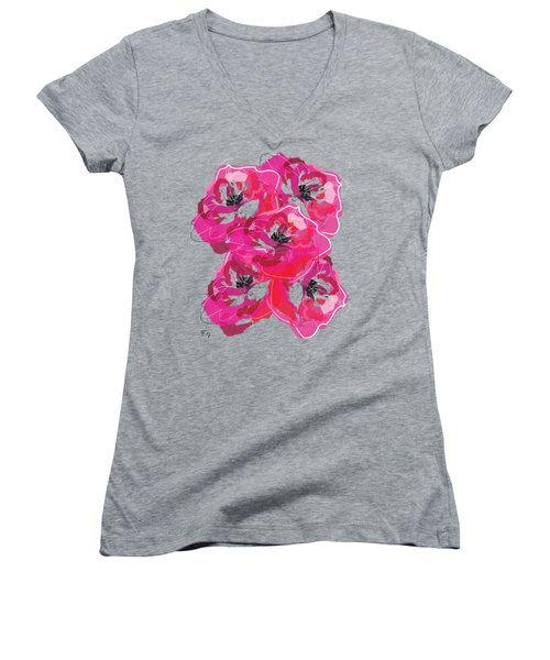 Rose Abundance Women's V-Neck (Athletic Fit)