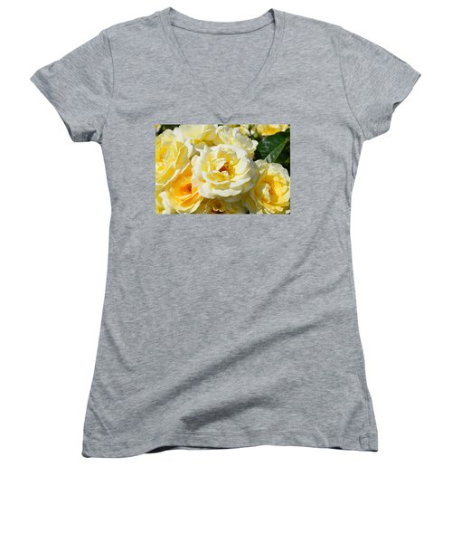 Rose Bush Women's V-Neck (Athletic Fit)