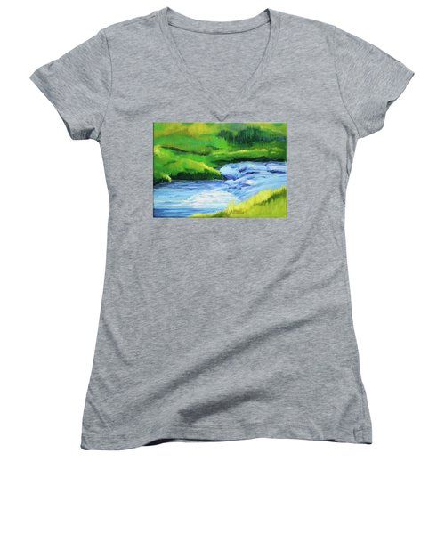 Rose Creek Summer Women's V-Neck T-Shirt