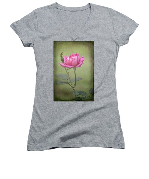 Rose Women's V-Neck