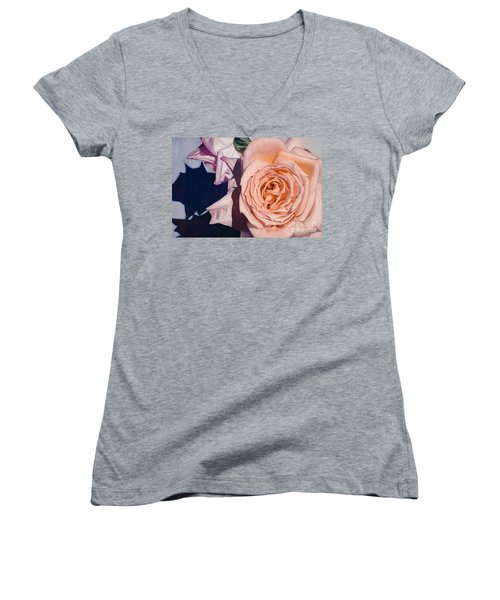 Rose Splendour Women's V-Neck T-Shirt (Junior Cut)