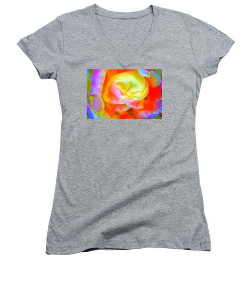 Roses 3 Women's V-Neck T-Shirt