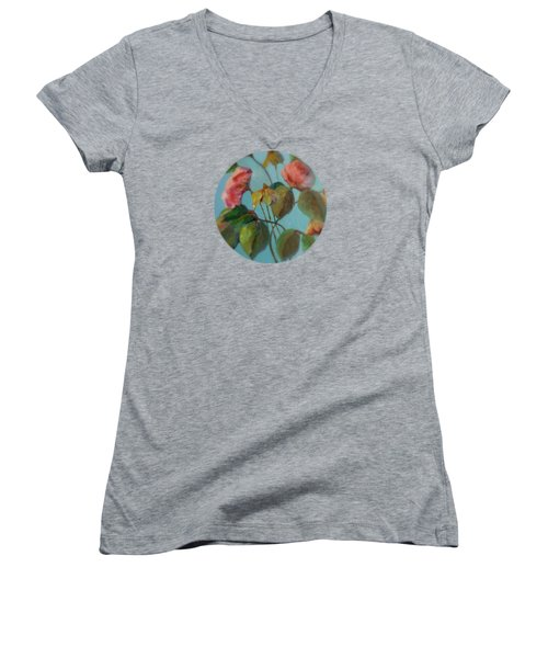 Roses And Wildflowers Women's V-Neck