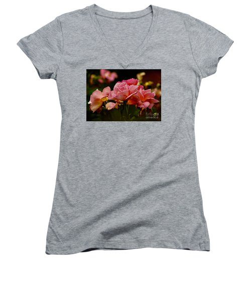 Roses By The Bunch Women's V-Neck (Athletic Fit)