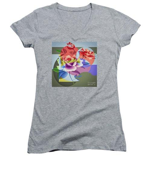 Roses For Her Women's V-Neck T-Shirt
