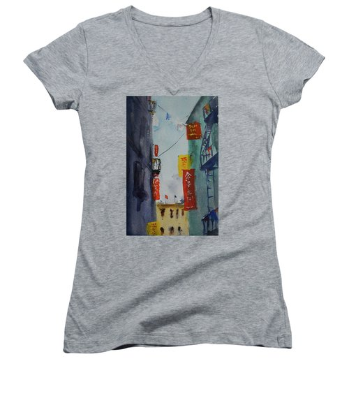 Ross Alley6 Women's V-Neck T-Shirt