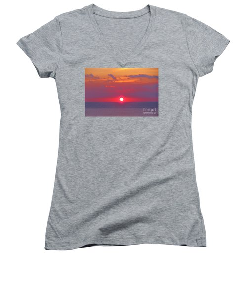 Rosy Sunrise Women's V-Neck T-Shirt