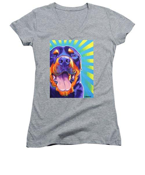 Rottweiler - Duncan Women's V-Neck T-Shirt