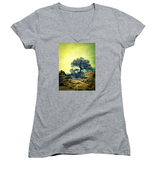 Women's V-Neck T-Shirt (Junior Cut) featuring the photograph Rough Terrain by Glenn McCarthy Art and Photography