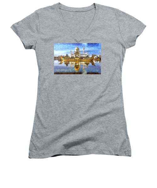 Royal Mosque  Women's V-Neck T-Shirt