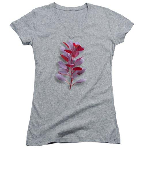 Royal Purple Women's V-Neck T-Shirt (Junior Cut) by Ivana Westin