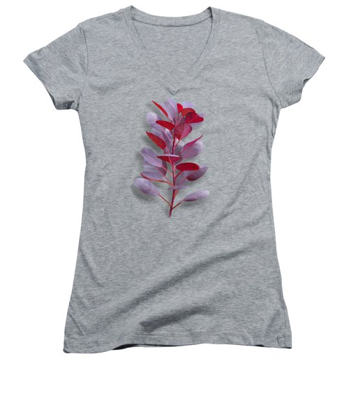 Women's V-Neck featuring the painting Royal Purple by Ivana Westin