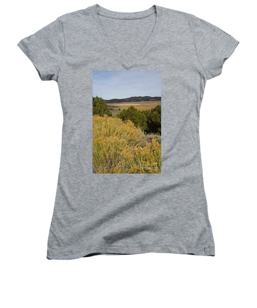 Rt 72 Utah Women's V-Neck T-Shirt (Junior Cut) by Cindy Murphy - NightVisions