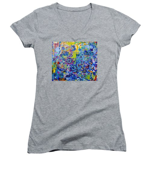 Rube Goldberg Abstract Women's V-Neck (Athletic Fit)