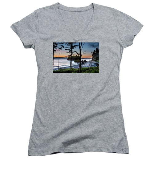Ruby Beach #2 Women's V-Neck