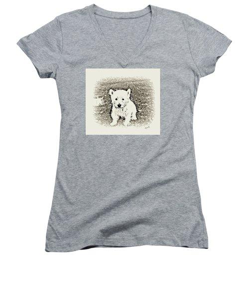 Ruby Women's V-Neck T-Shirt (Junior Cut) by YoMamaBird Rhonda