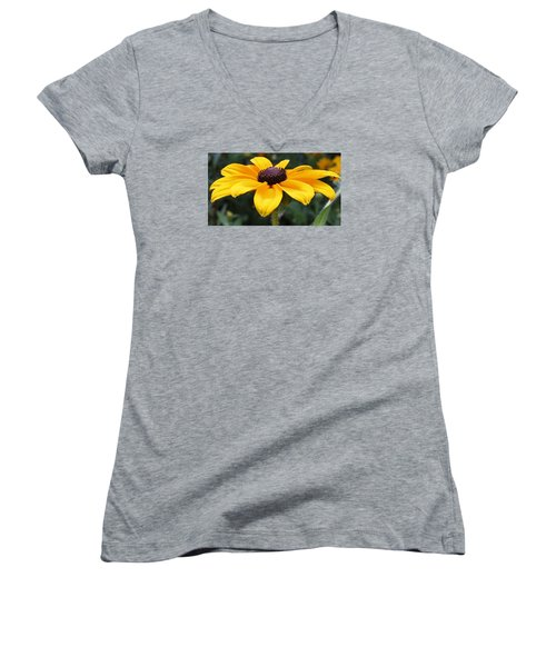 Rudbeckia Bloom Up Close Women's V-Neck (Athletic Fit)