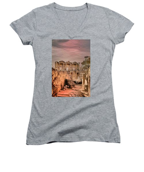 Ruins Of Ephesus Women's V-Neck T-Shirt