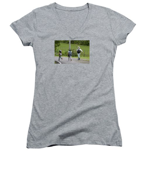 Run For It Women's V-Neck (Athletic Fit)