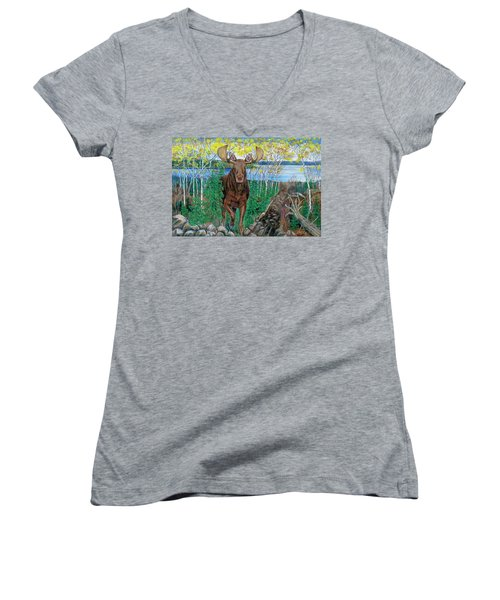 RUN Women's V-Neck T-Shirt