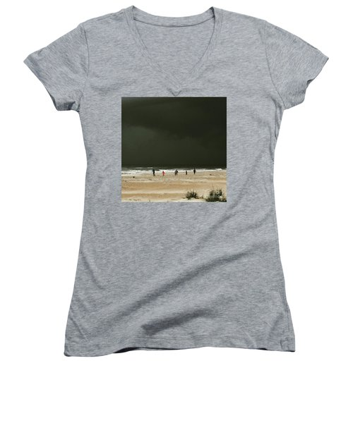 Run Women's V-Neck T-Shirt (Junior Cut) by LeeAnn Kendall