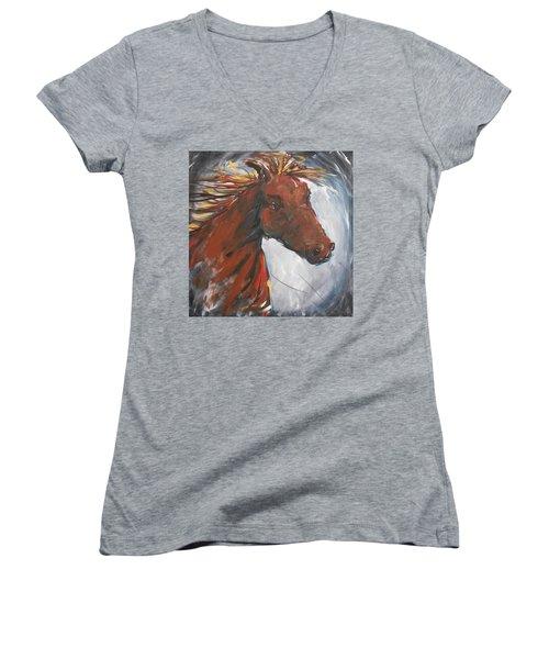 Run Like The Wind Women's V-Neck T-Shirt