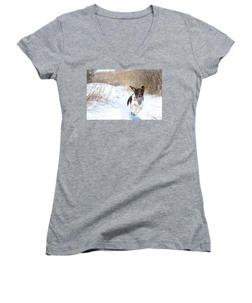 Run Millie Run Women's V-Neck T-Shirt