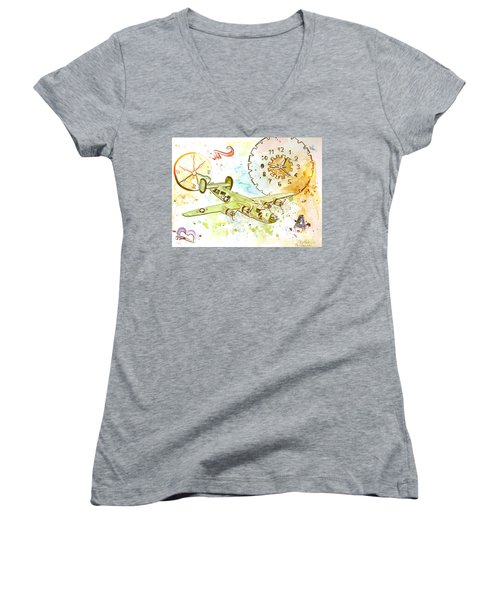 Running Out Of Time Women's V-Neck