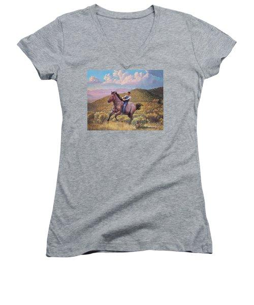 Runaway Roan Women's V-Neck T-Shirt