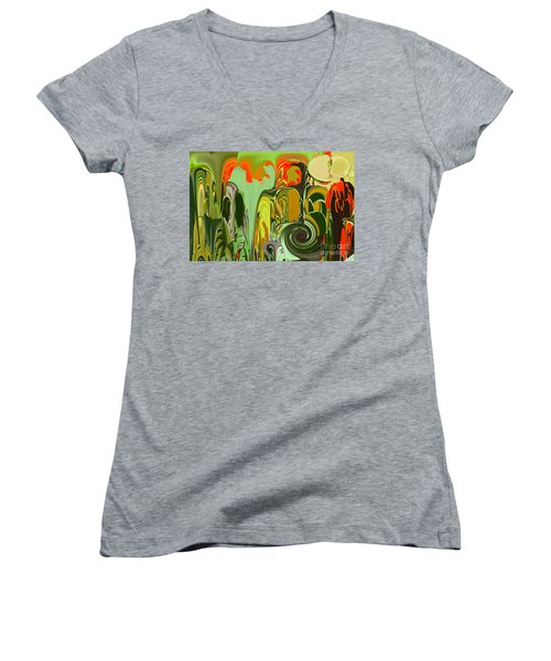 Running Through The Jungle Women's V-Neck (Athletic Fit)