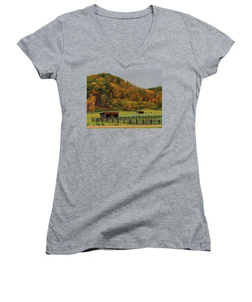 Rural Beauty In Ohio  Women's V-Neck