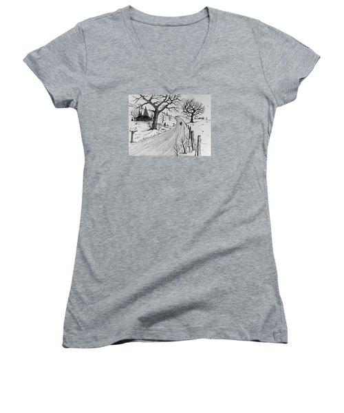Rural Living Women's V-Neck T-Shirt (Junior Cut) by Jack G Brauer
