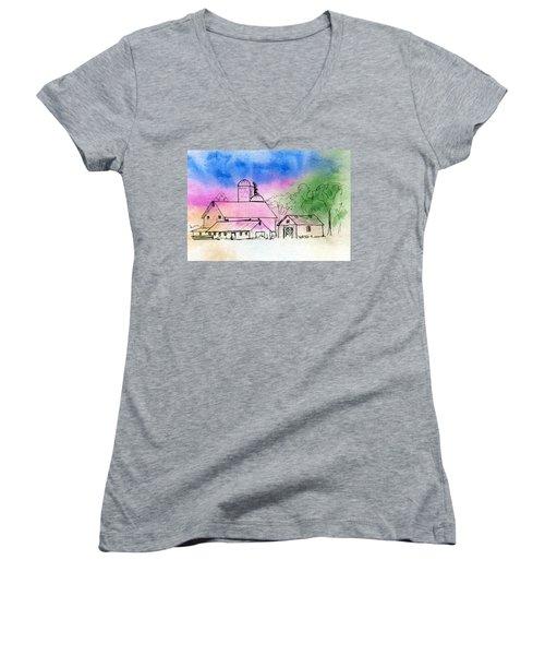 Rural Nostalgia Women's V-Neck T-Shirt