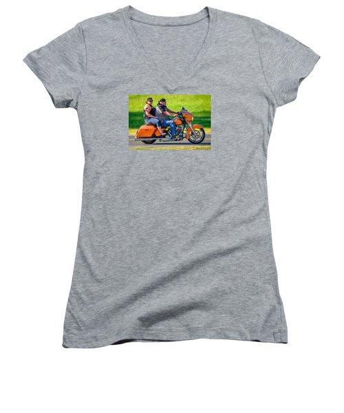 Rural Ride Women's V-Neck (Athletic Fit)