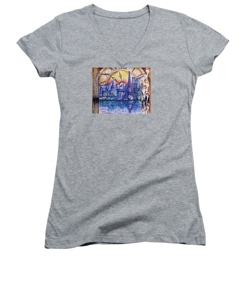 Rush Hour In Paris Women's V-Neck (Athletic Fit)